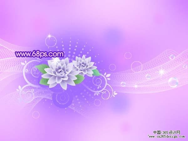 创意设计 photoshop photoshop打造梦幻的蓝紫色花纹
