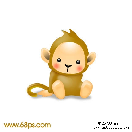 photoshop制作一只可爱的卡通猴子