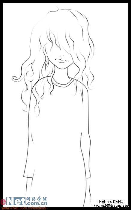 ps鼠绘可爱卡通小女孩 -- 纯粹空间 - 韩国欧美酷站.