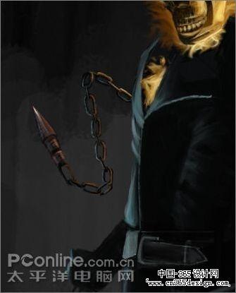铁链手绘男生图片