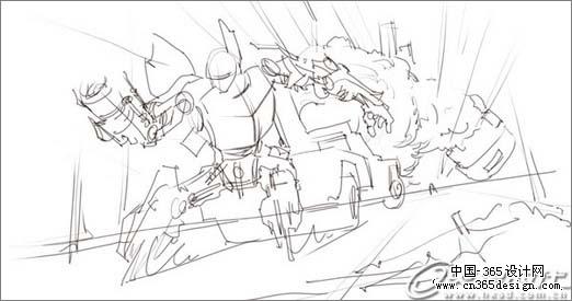 ps鼠绘超酷变形金刚插画