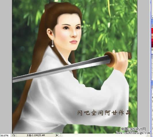 古装手绘男子持剑图片